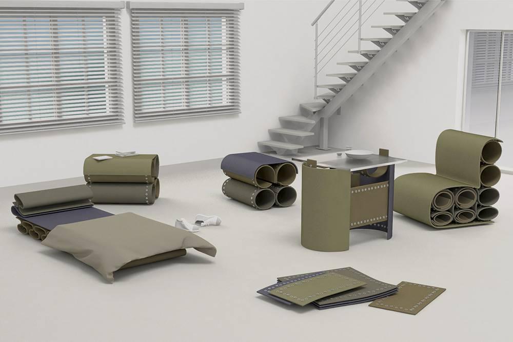 Этот проект модульной мебели я тоже отправляла наконкурс. Он слабее, я его сделала еще в магистратуре напроектировании. Даже первый этап отбора он непрошел