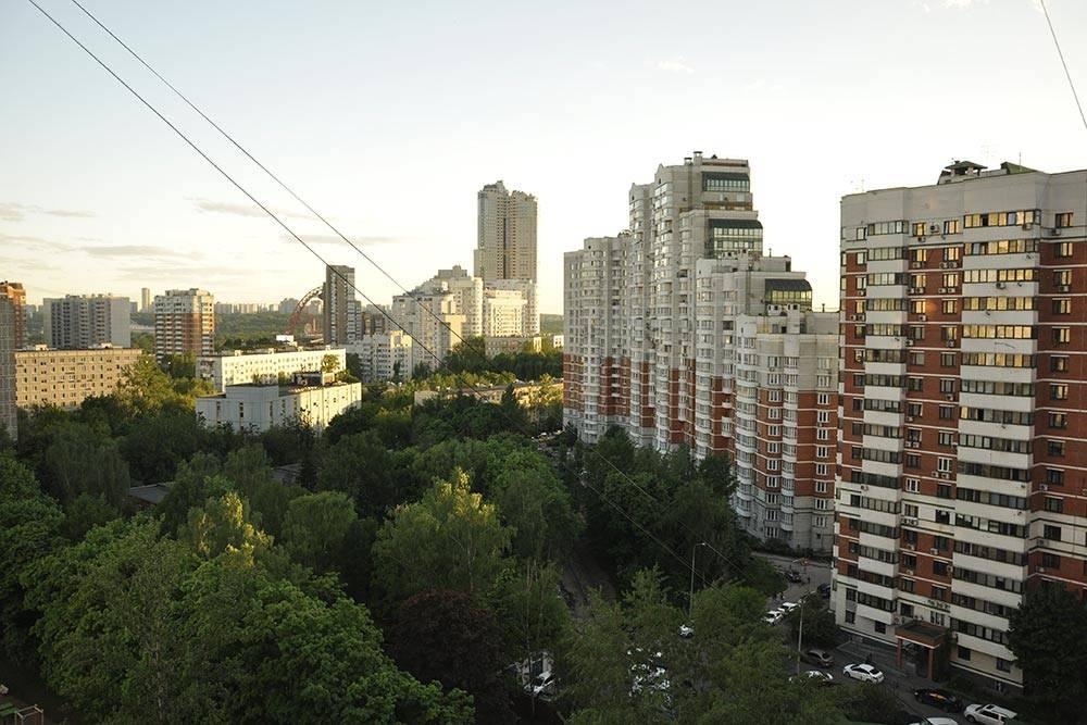 Это вид из моего окна. Другие дворы в Хорошево-Мневниках тоже утопают в зелени, но когда там вырастут высотки, ее станет меньше. Нам повезло: во дворе территория детского сада и там точно ничего не построят