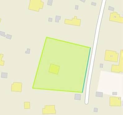На карте синим контуром обозначено, как проходит охранная зона газификации на исходном земельном участке