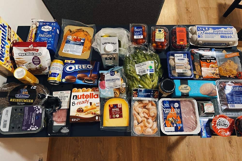 Наши покупки в продуктовом на 95€