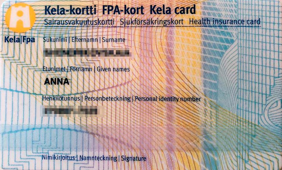 Моя финская карточка социального страхования