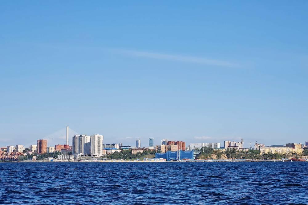 Вид на Владивосток с воды