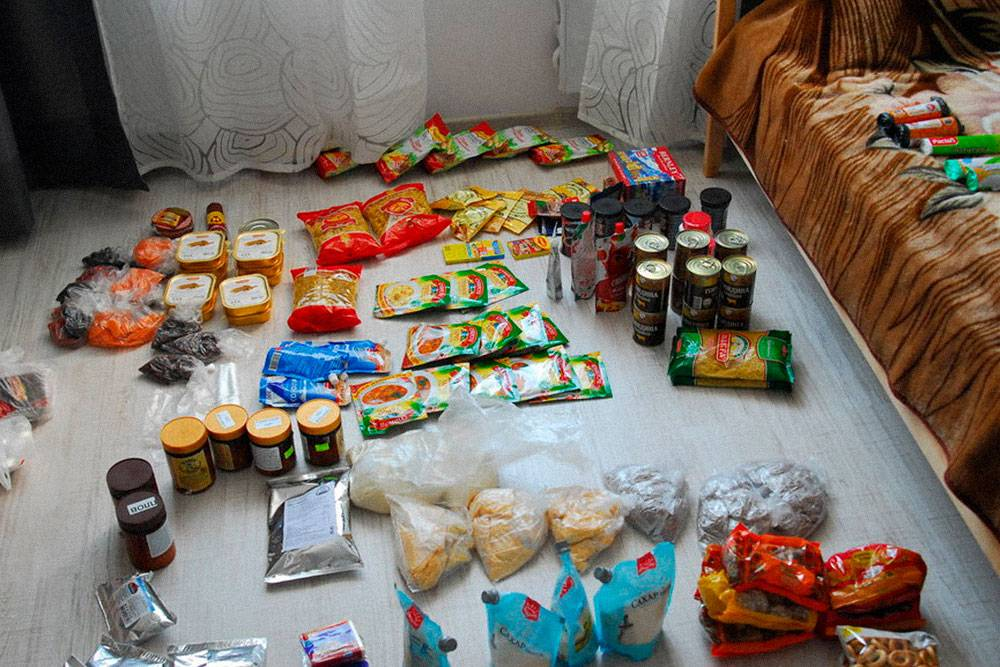 Сортировка еды на двухнедельный поход
