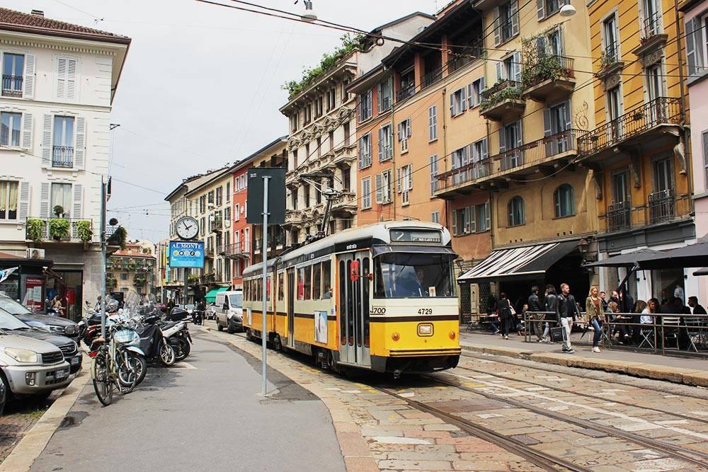 Старый трамвай в Милане