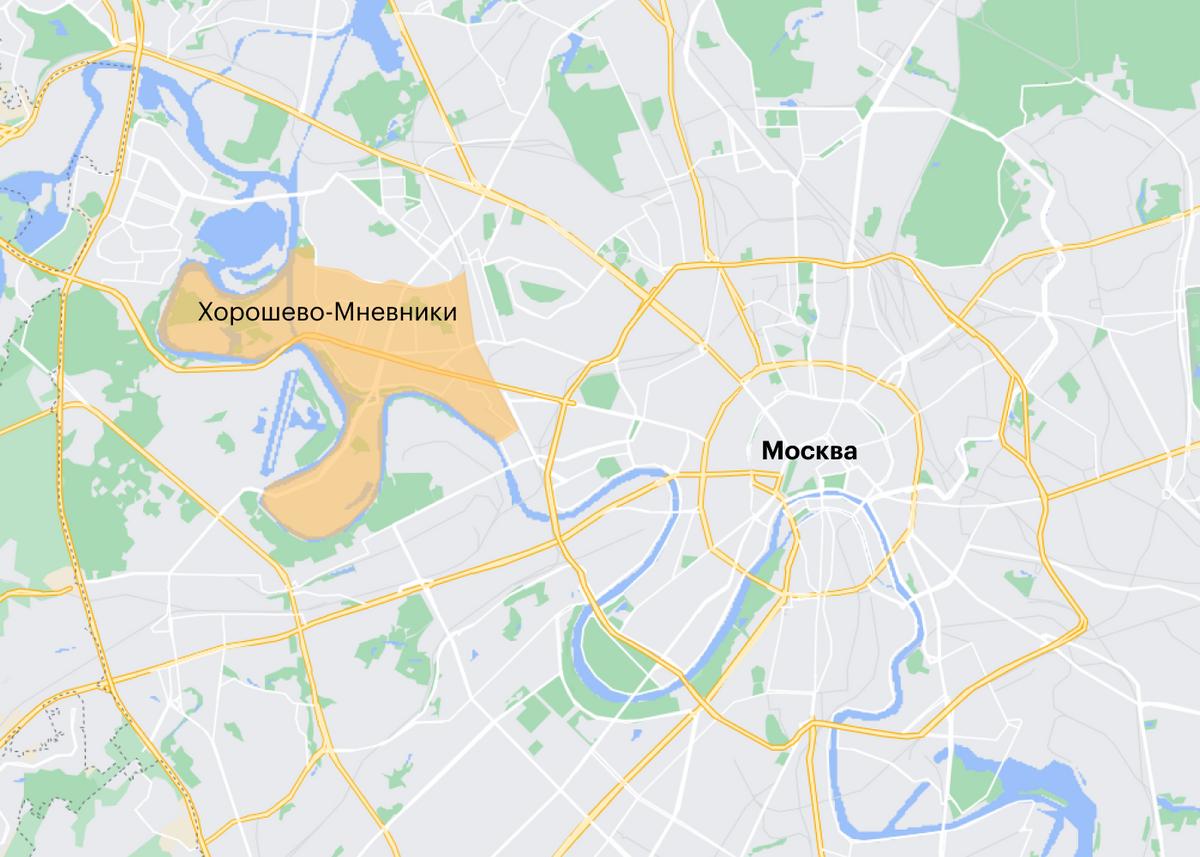 Хорошево-Мневники граничат с Центральным округом Москвы. Но здесь зелено и спокойно