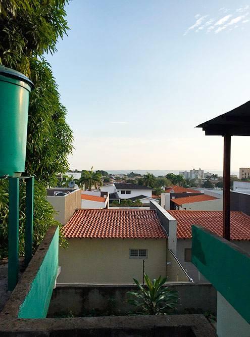 Утро впосаде, Пуэрто-Ордас. Нагоризонте — неморе, как может показаться, аджунгли