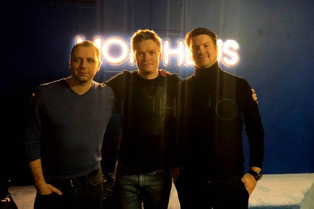 Петр, Александр и Никита в новом помещении шоу