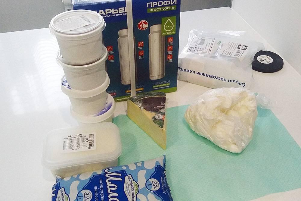 Покупки за сегодня: фильтры для воды, творог, молоко, мороженое. Очень нравится продукция крестьянского хозяйства «Нил», регулярно покупаем