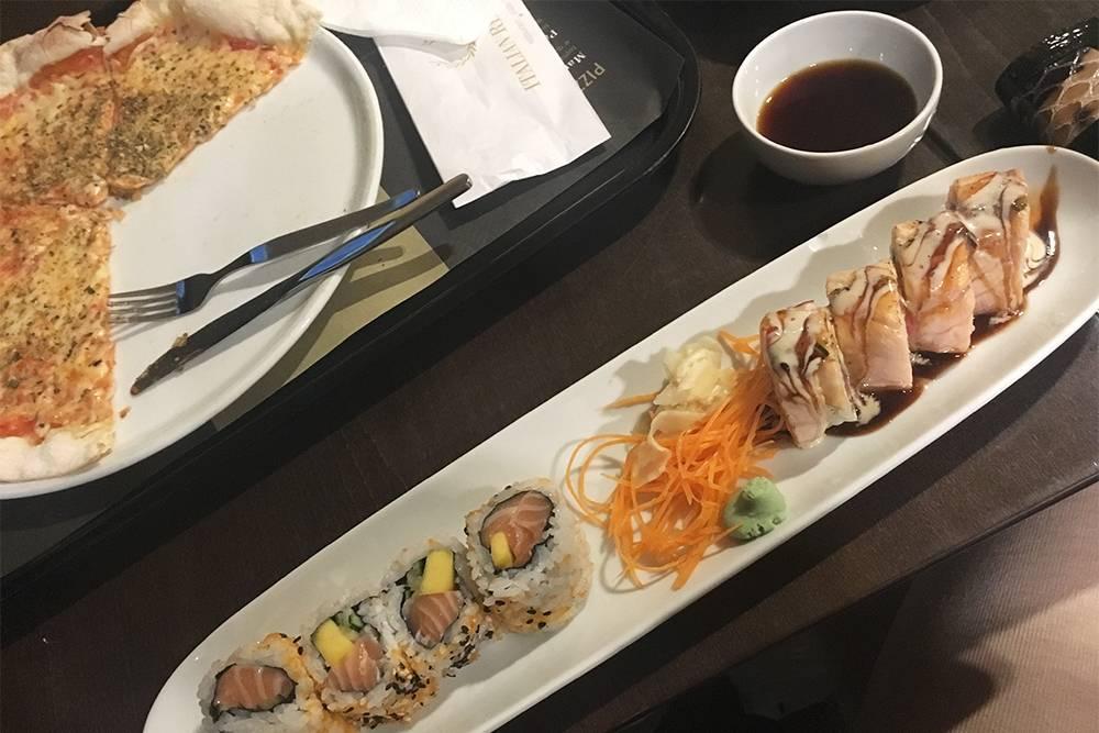 Свежие суши в Sushi Passion в аэропорту Порту. Цена — от 3,6€ за два ролла