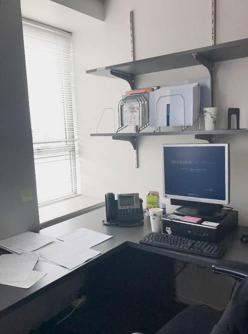 Это мое рабочее место в Brookings