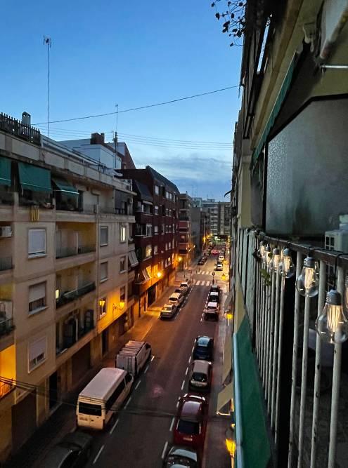 Вид с моего балкона вечером