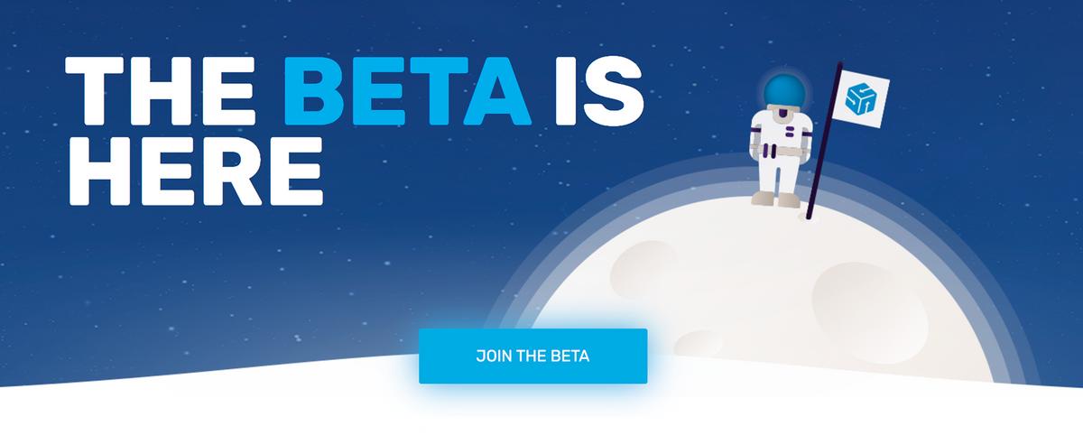 «Бета уже здесь», но ссылка, видимо, еще в пути — кнопка ведет на пустую страницу