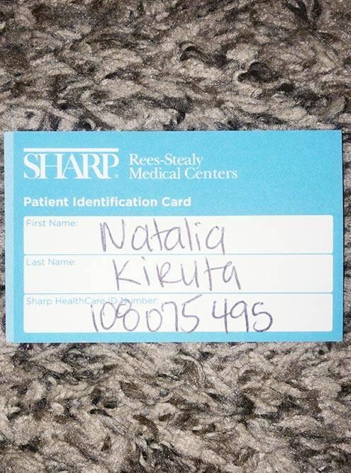 Мой номер в системе клиники. По нему или по SSN — номеру социального страхования — идентифицируют пациента в системе