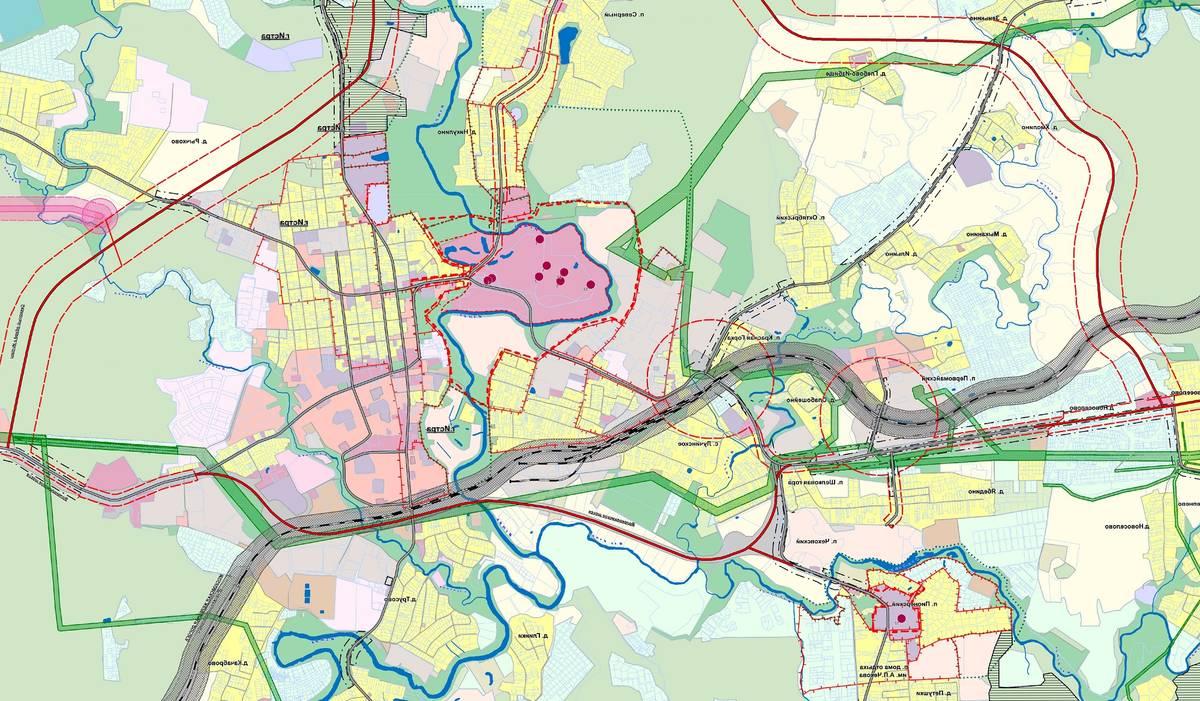 Фрагмент карты ЗОУИТ ПЗЗ г. о. Истра, где можно увидеть, что еще планируется сделать