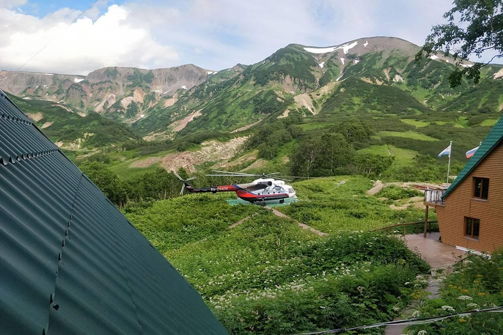 Вертолетная площадка вДолине гейзеров
