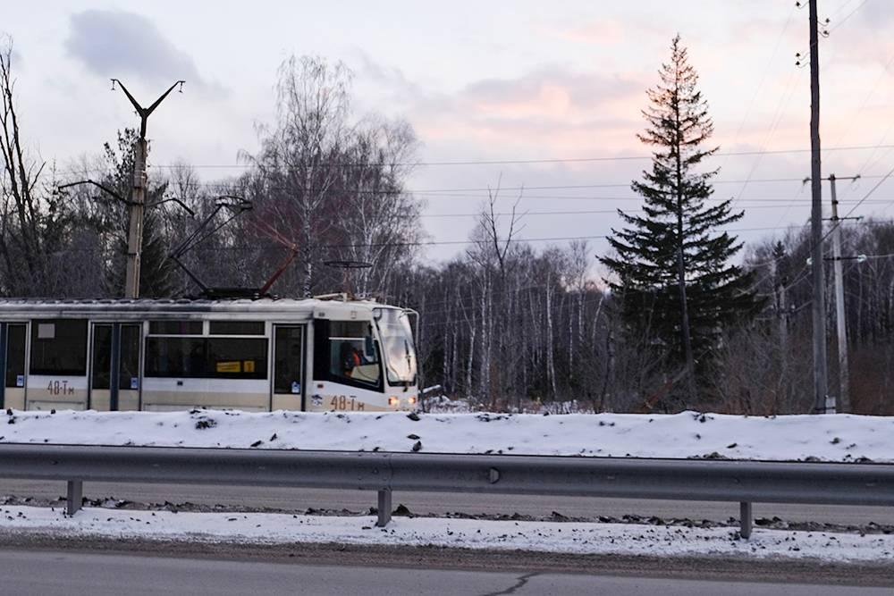 По Златоусту ходят в основном старые трамваи. Мы видели лишь несколько новых