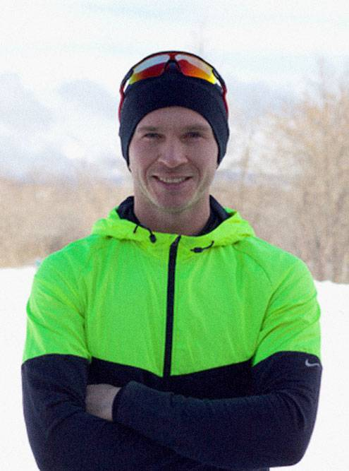 Андрей во время зимней пробежки в Магнитогорске