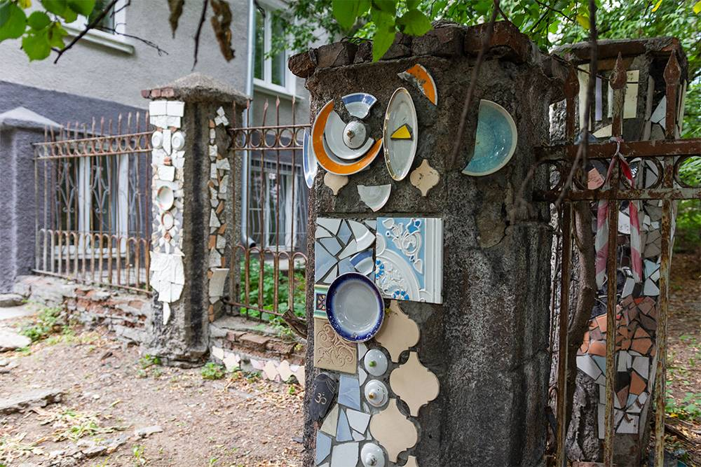 Керамика на столбах