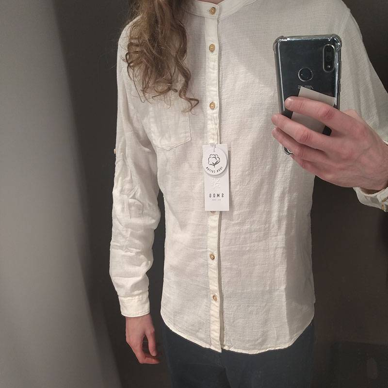 Вот такую рубашку я купил в «Нью-Йоркере»
