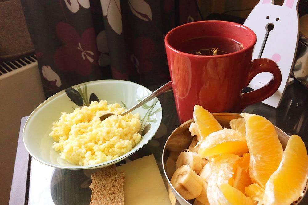 Завтрак. Каша доварилась