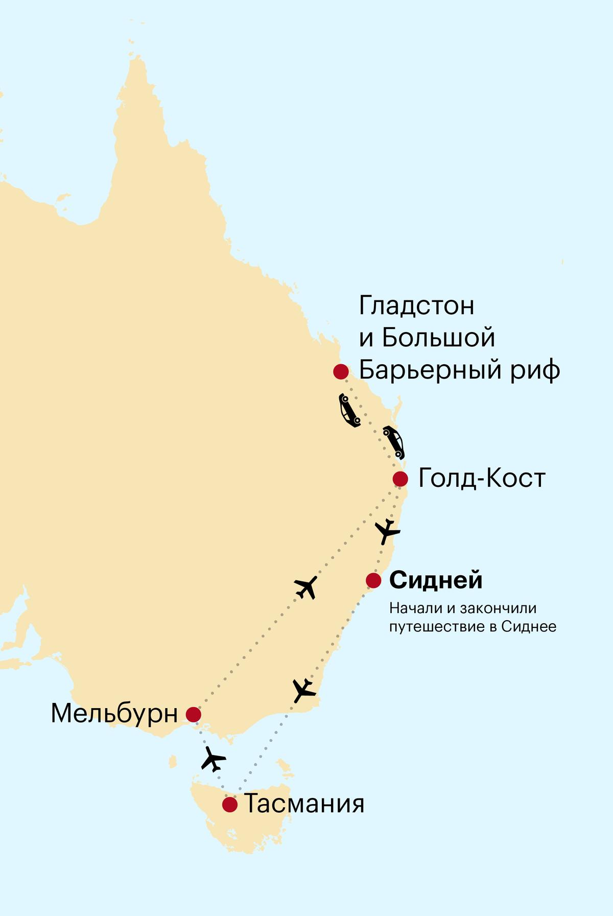Наше путешествие по Австралии: Сидней — Тасмания — Мельбурн — Голд-Кост — Большой Барьерный риф — Сидней