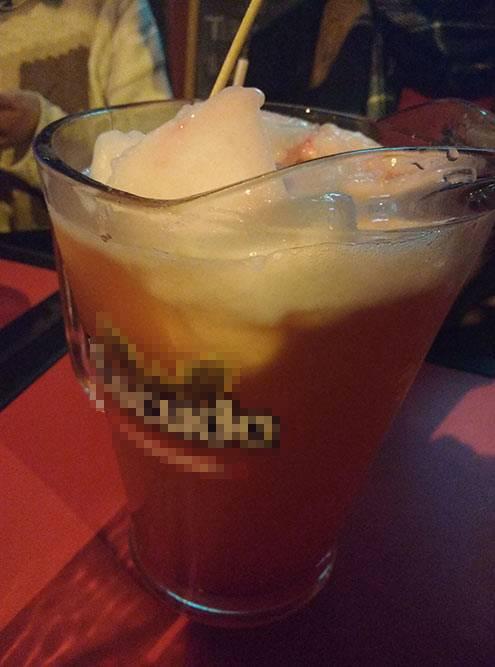 Терремото — сладкий напиток извина, гренадина имороженого