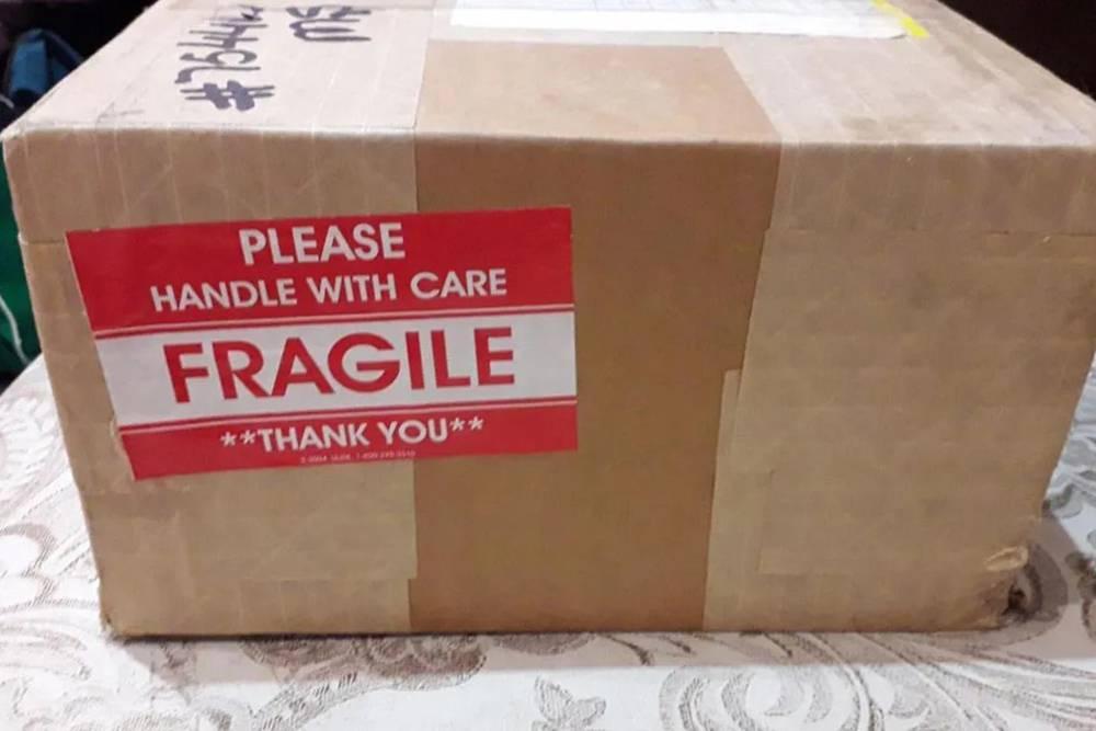Такую коробку мне отдали напочте