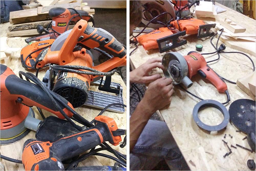 Чтобы оборудование незаржавело, пришлось разбирать каждый инструмент ичистить его вручную