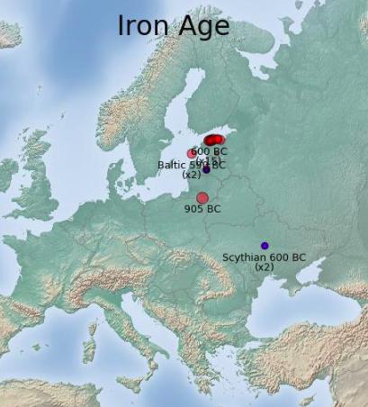 В этих областях жили мои предки — балты и скифы. Дело происходило в железном веке, это 905—590 годы до нашей эры