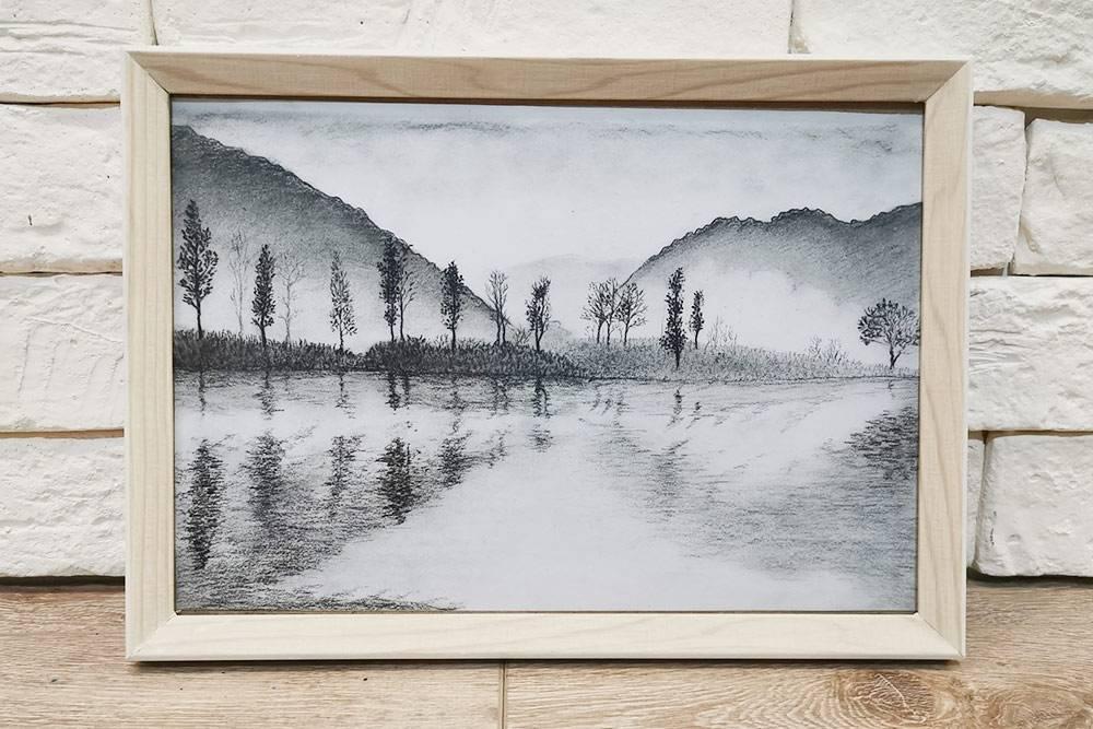 Рисунок угольным карандашом