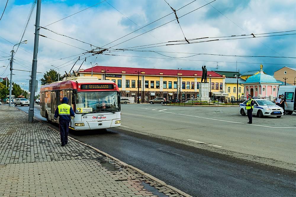 Троллейбусы ходят по центральным улицам Томска