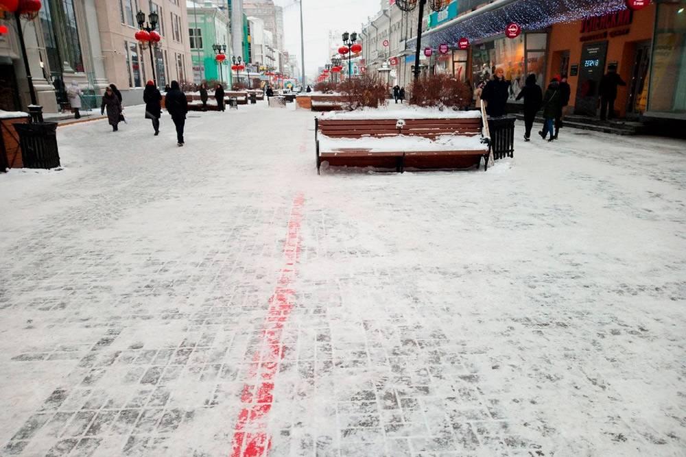 Красная линия на улице Вайнера