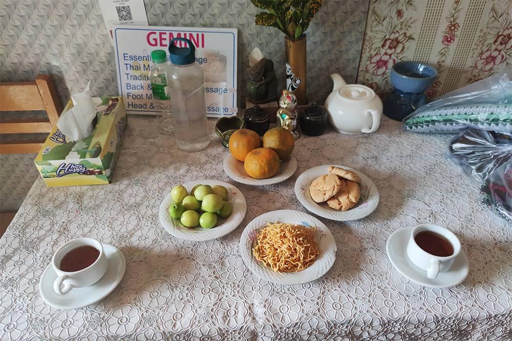 Чай после массажа в салоне Gemini