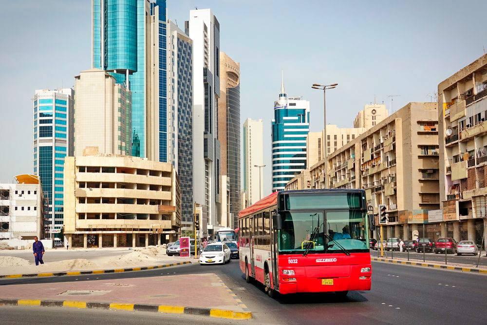Автобус в центре Эль-Кувейта