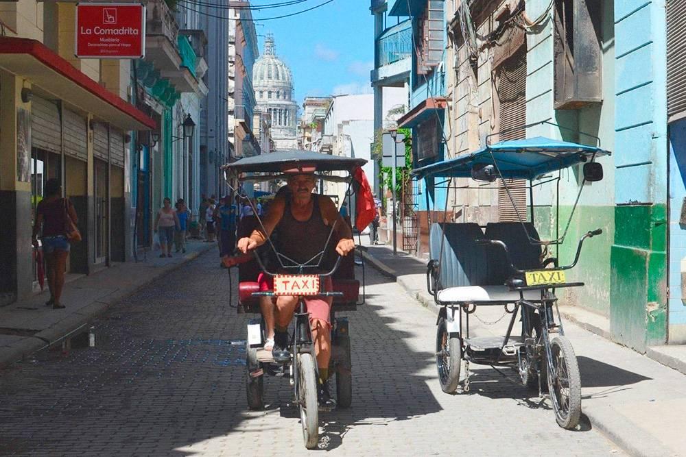 Такси в центральной исторической части Гаваны