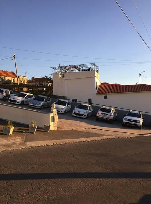 Обычный уклон улицы на Мадейре