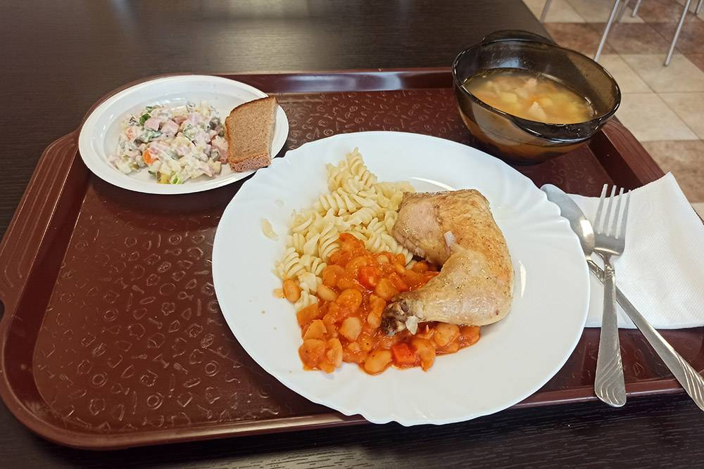 Сегодняшний обед в столовой