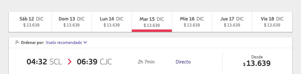 Такой&nbsp;же перелет на&nbsp;чилийской версии сайта&nbsp;Latam стоит 13&nbsp;639&nbsp;CLP (1350&nbsp;<span class=ruble>Р</span>)