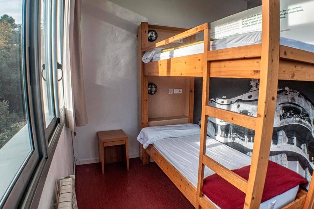 В Барселоне мы ночевали в многоместном номере — дорме. Хостел Inout находится на горе, поэтому приходилось совмещать занятия спортом с прогулками по городу
