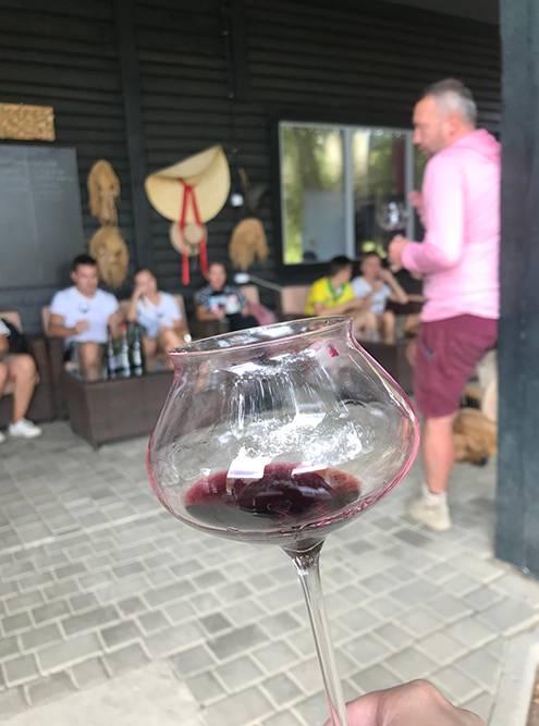 Приятно после работы на винограднике дегустировать вина в том месте, где они родились