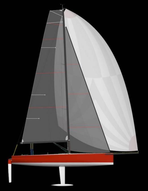 Деталь, похожая на перевернутую букву Т снизу лодки — киль, который стабилизирует яхту. Кили не всегда выглядят так, бывают и другие типы. Источник: yachtshipyard