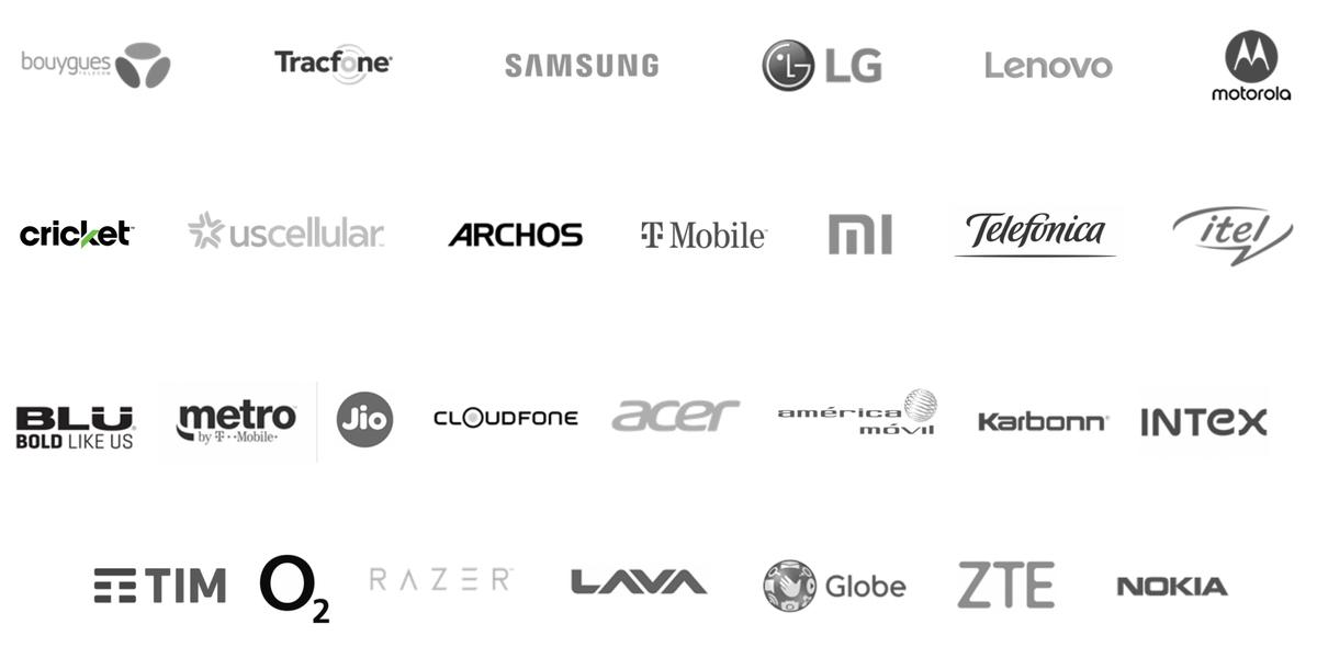 Логотипы клиентов компании. Источник: презентация компании, слайд13