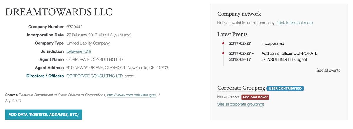 Местный реестр юрлиц подтверждает регистрацию компании в США. Это лучше, чемотсутствие юрлица или регистрация в офшоре. Но решать споры все равно придется в суде другой страны