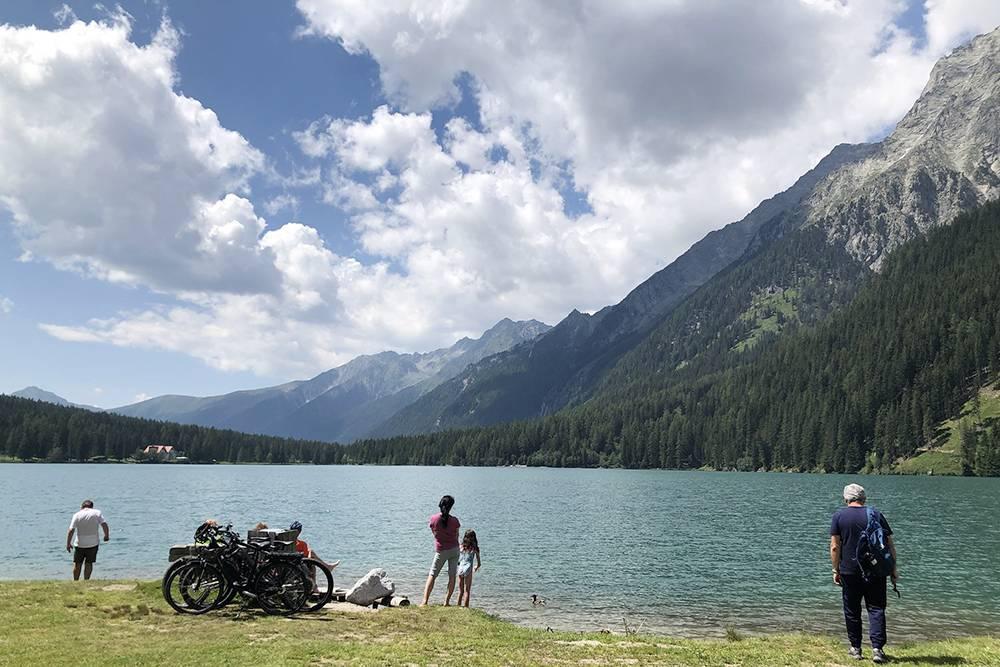 А это альпийское озеро в 4 километрах от австрийской границы