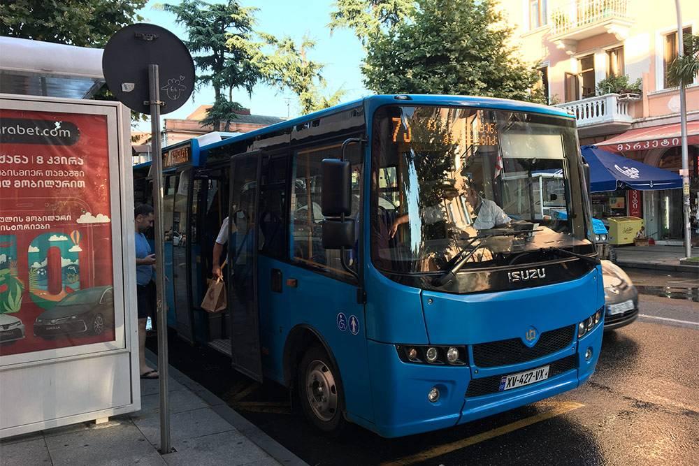 Автобусы в Батуми выглядят так