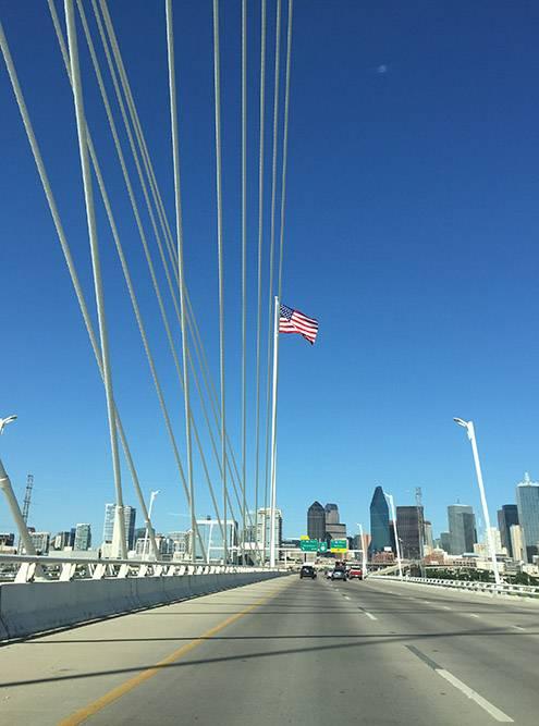 Так выглядит Даллас на въезде в город