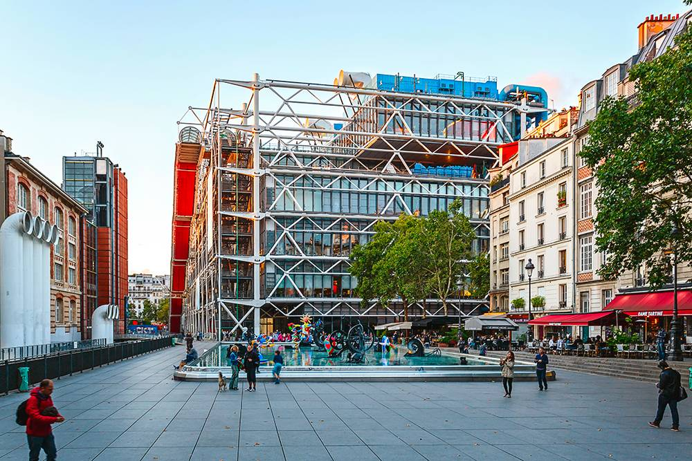 Центр Помпиду выглядит как одна большая инсталляция. Фото: Shutterstock