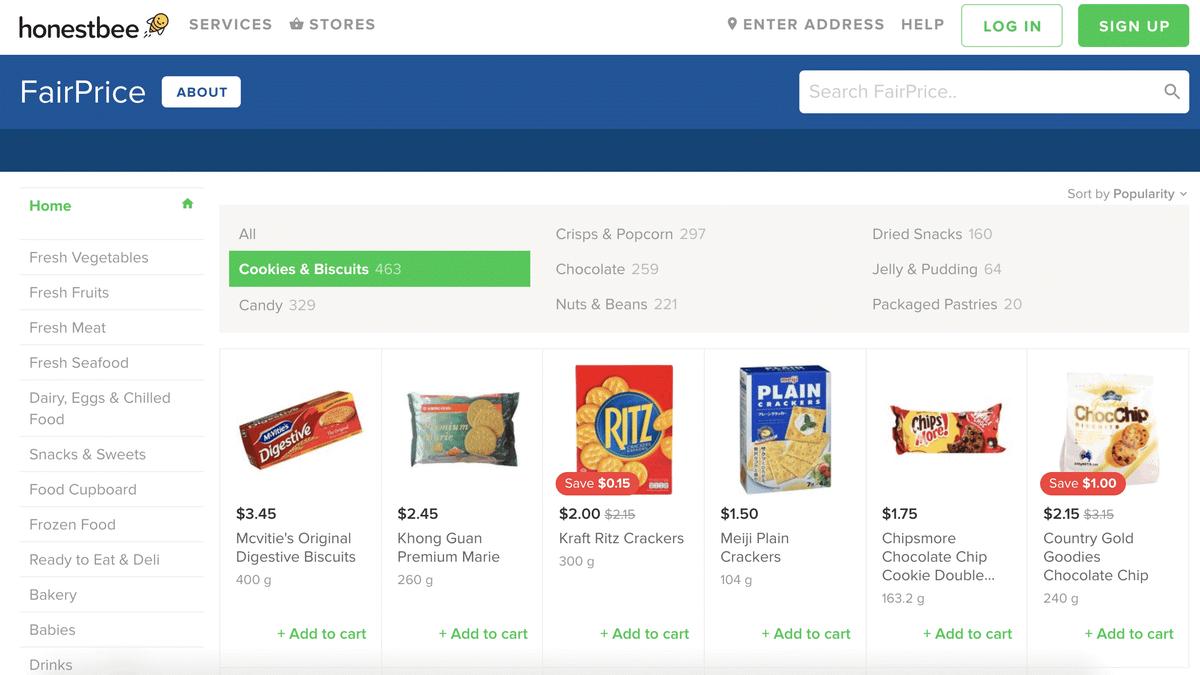 В Сингапуре работает «Онестби» — служба доставки продуктов из разных супермаркетов, доставка стоит 3,5$ за заказ
