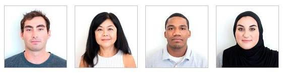 Примеры правильных фото с официального сайта Госдепартамента