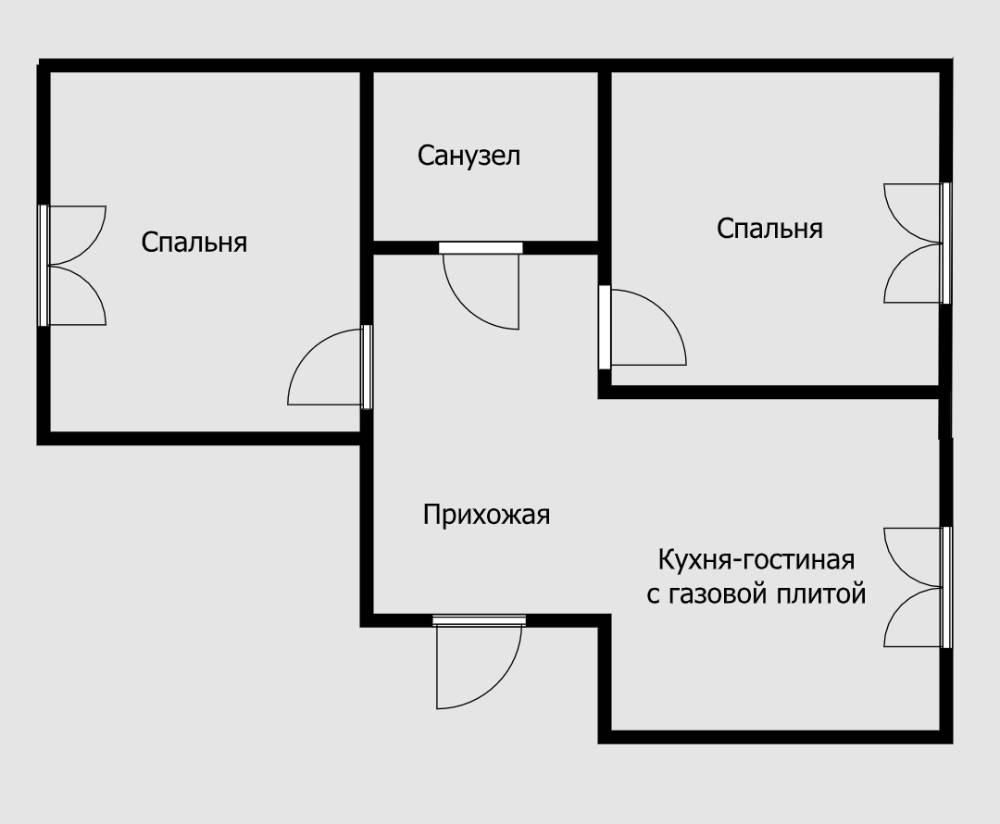 Если варочная панель на кухне электрическая, то можно объединять ее с гостиной без проблем. Но если плита газовая, то хотя бы в жилых комнатах обязательно должны быть плотно закрывающиеся двери